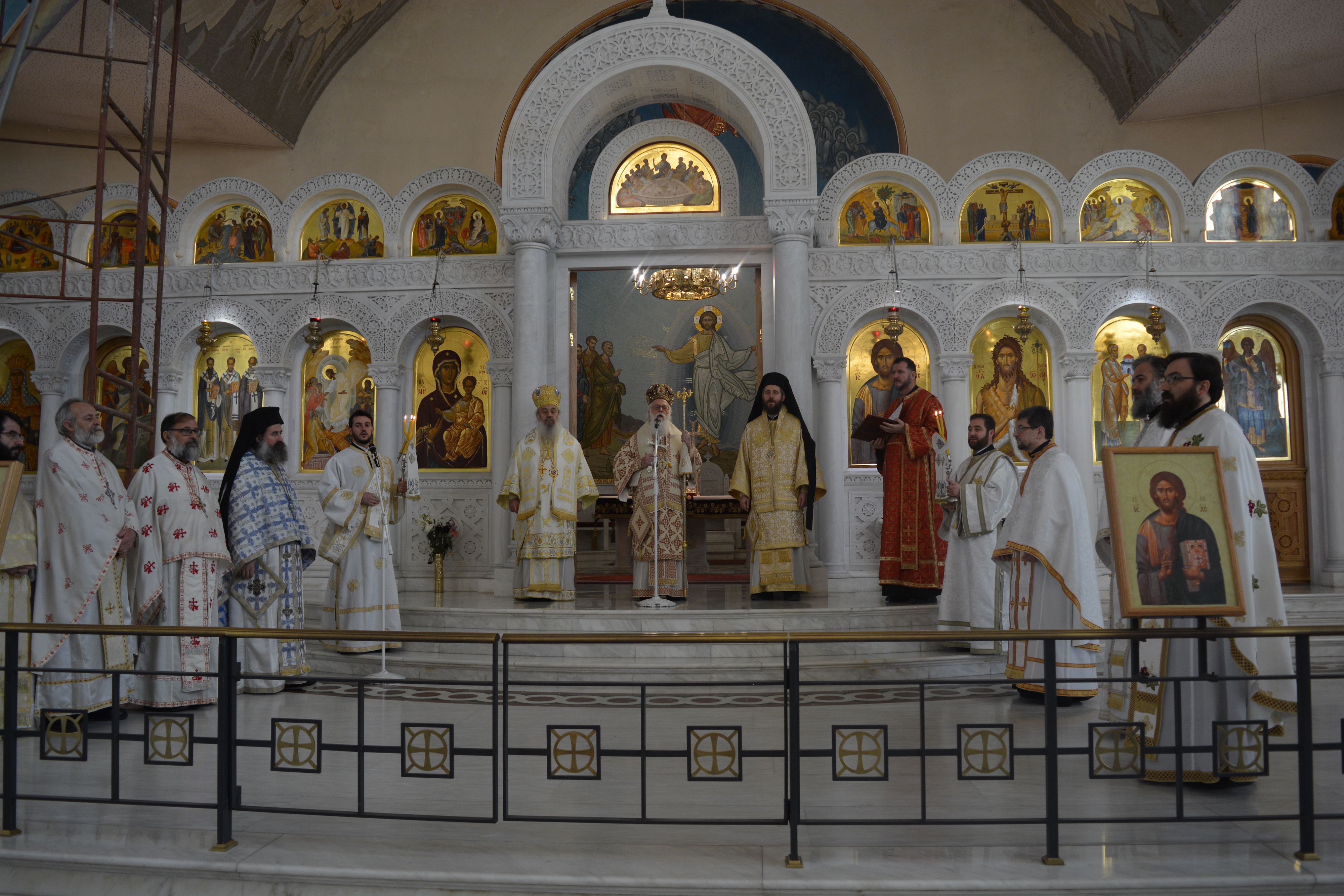 Bishops and Priests during the Divine Liturgy